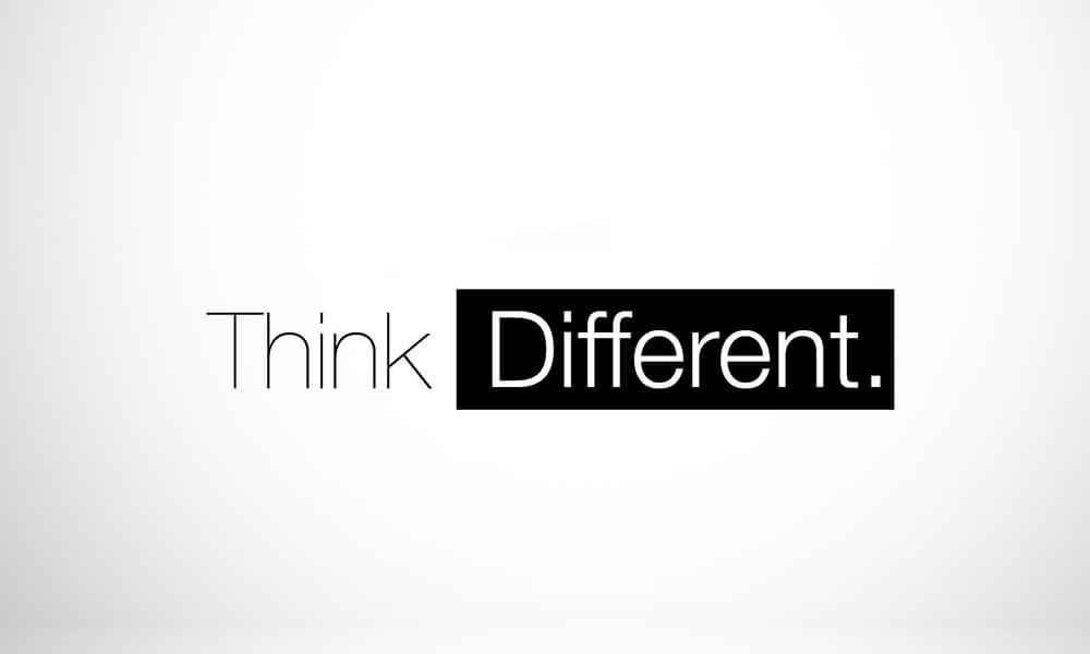 Image of Apple slogan