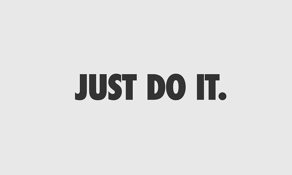 Image of Nike slogan