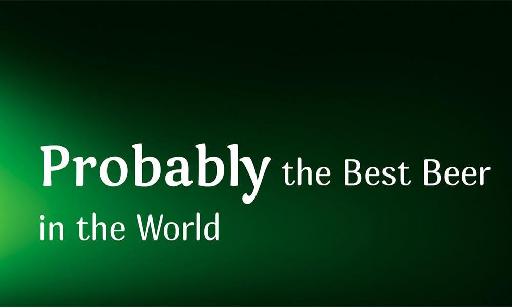 Image of Carlsberg slogan