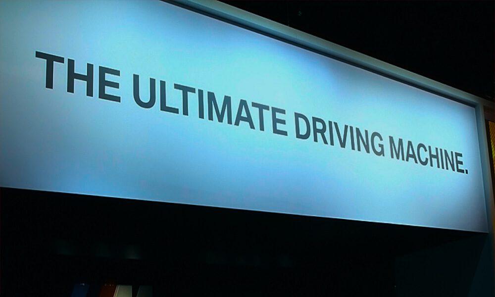 Image of BMW slogan