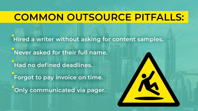 Image of Common outsource pitfalls